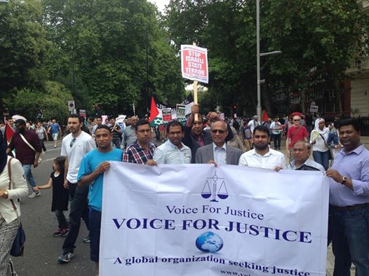 Photo: Today's demonstration @ 10 Downing st to  Israeli Embassy, Voice For Justice, many thanks to Dr Hasanat Husain MBE